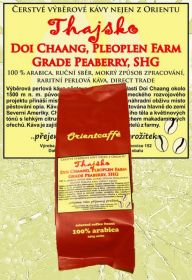 Thajsko Doi Chaang Pleoplen Farm grade PEABERRY, SHG - 2